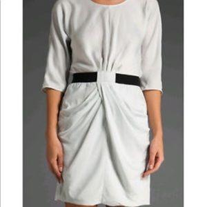 Bcbg Light Grey 3/4 Sleeve Dress